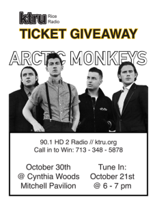Arctic Monkeys Giveaway