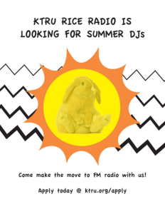 Apply to be a Summer DJ
