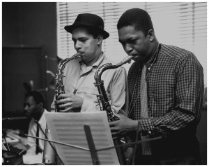 john-coltrane-with-jackie-mclean-probably-recording-for-mal-waldron-van-gelder-studio-hackensack-nj-1957-photo-esmond-edwards